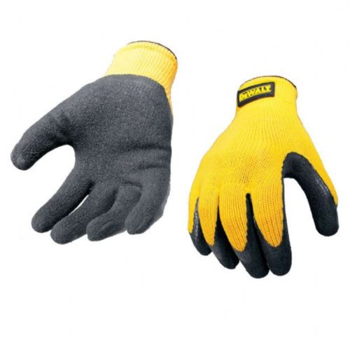 Dewalt DPG70L Yellow Knit Gripper Gloves Large